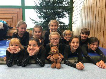 Turnerinnen der Scheffelschule bei Jugend trainiert für Olympia 2