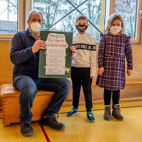Verabschiedung von Herr Winterhalder an der Scheffelschule Rielasingen